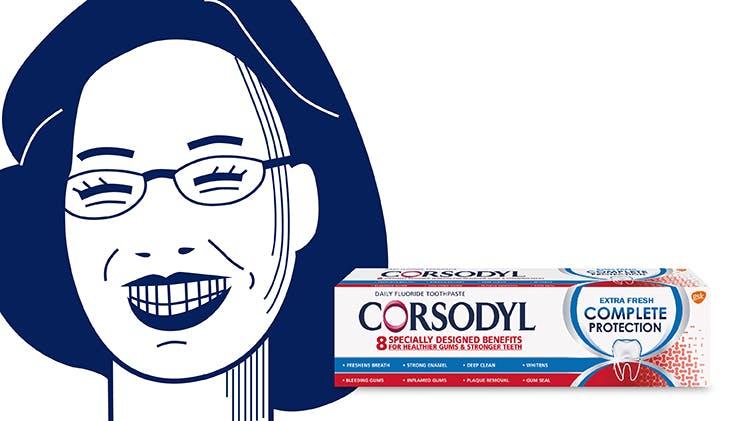 Luci illustration and toothpaste packshot