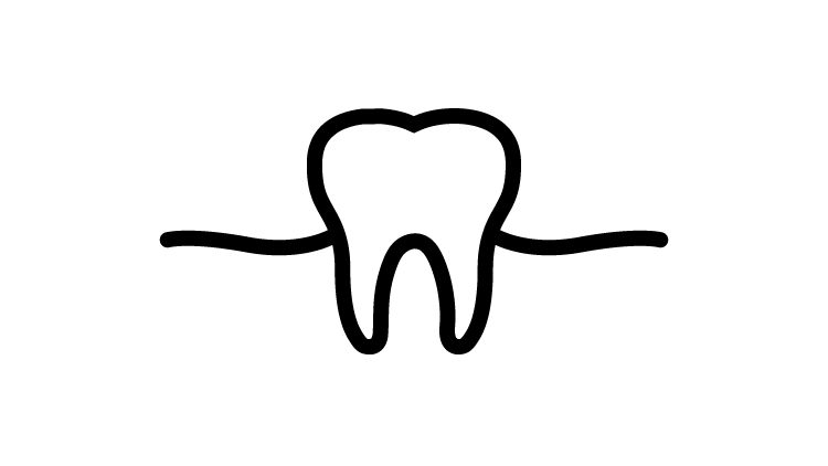 Tooth with gum icon