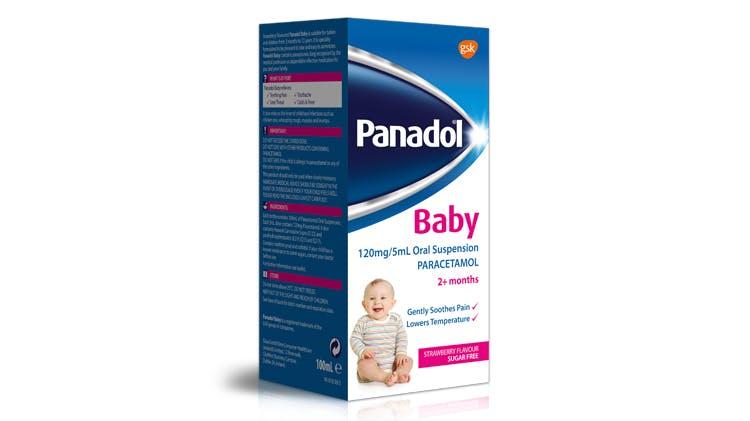 Panadol for children pack shotPanadol Baby 120mg/5ml Oral Suspension (paracetamol)