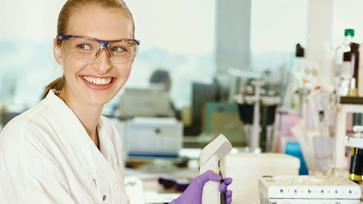 Image of woman in a laboratory