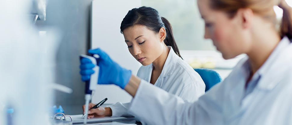 Scientists in lab