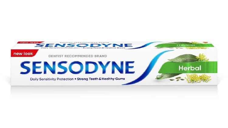 Sensodyne Herbal Multi Care toothpaste packshot