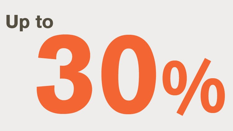 Up to 30% icon