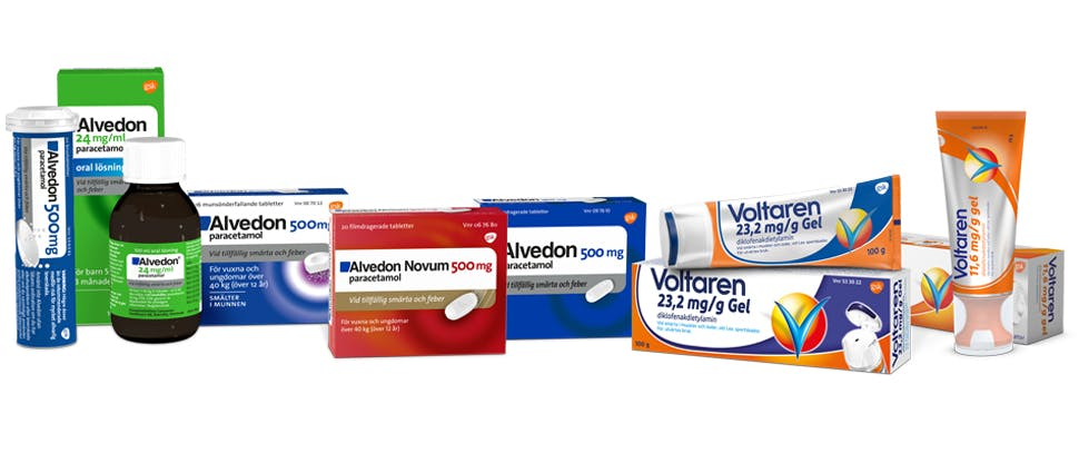 Pain relief product range