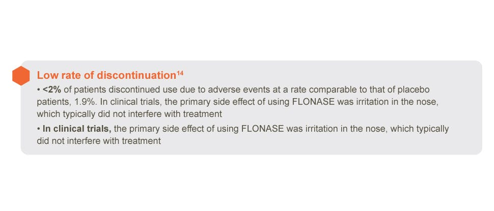 Flonase allergy relief safety info