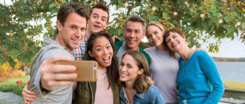 Group taking photo