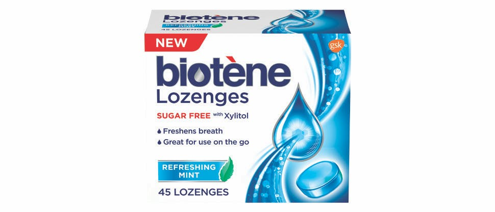 Biotène Dry Mouth Lozenge pack