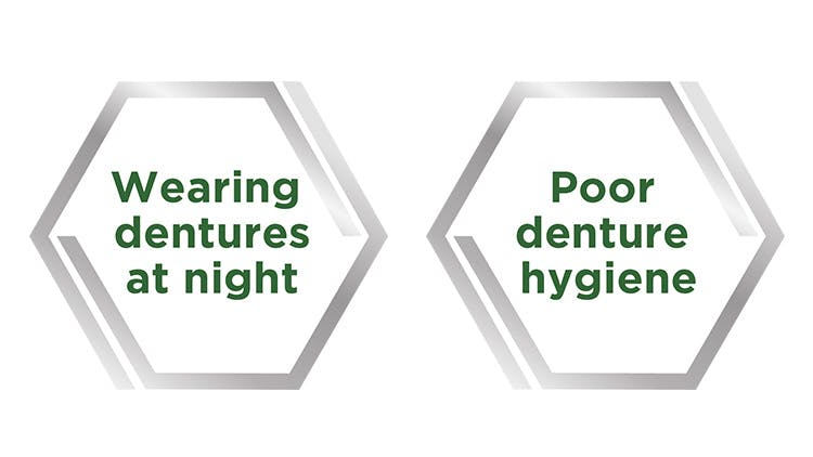 Denture hygiene infographic