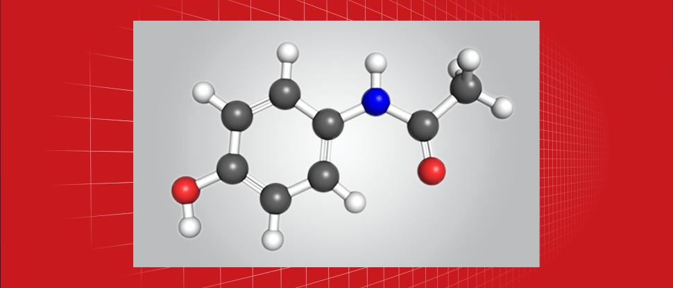 Acetaminophen molecule