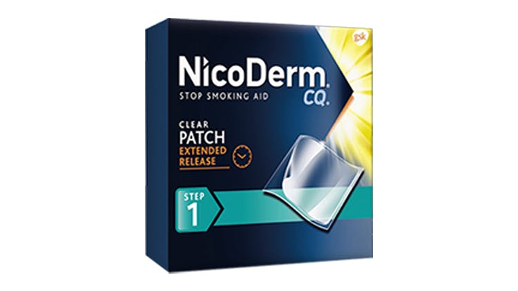 NicoDerm CQ Patch package