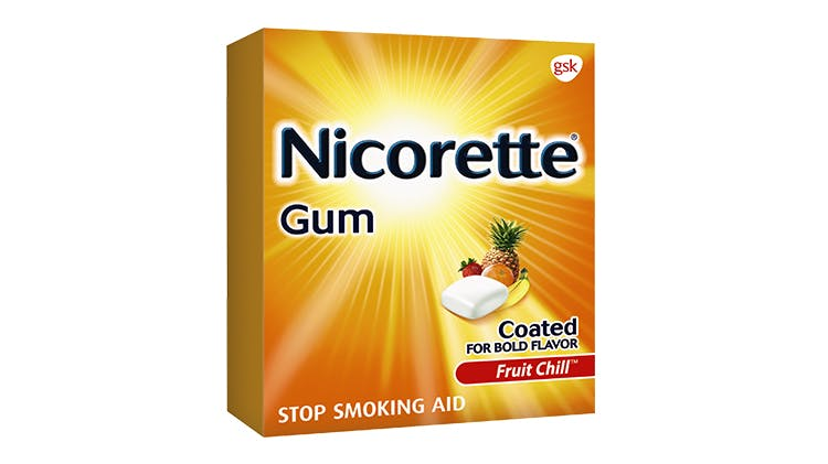 Nicorette Gum package