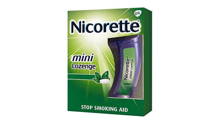 Nicorette mini Lozenges package
