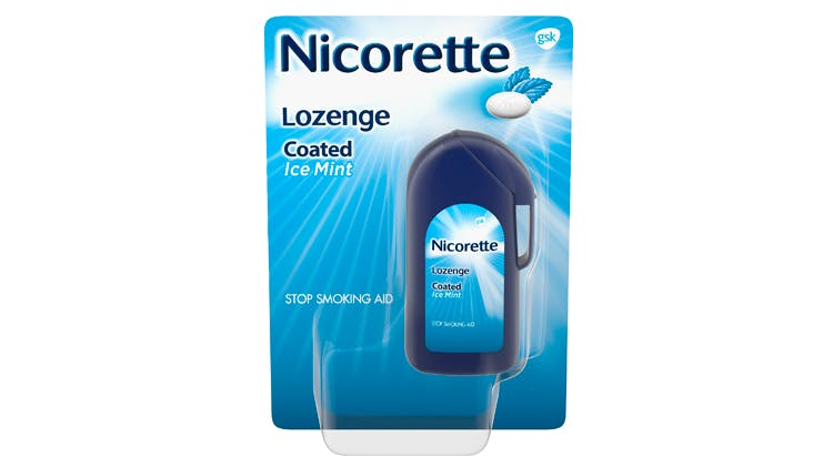 Nicorette Coated Ice Mint Lozenges package