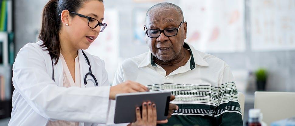 Healthcare professional & patient 3
