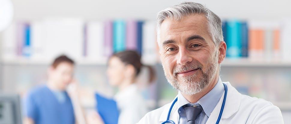 Healthcare professionals smiling