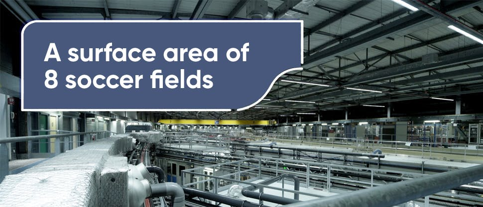 The surface area of ESRF can fit about 8 football pitches