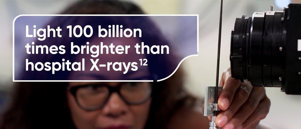 Light 100 billion times brighter than hospital X-rays
