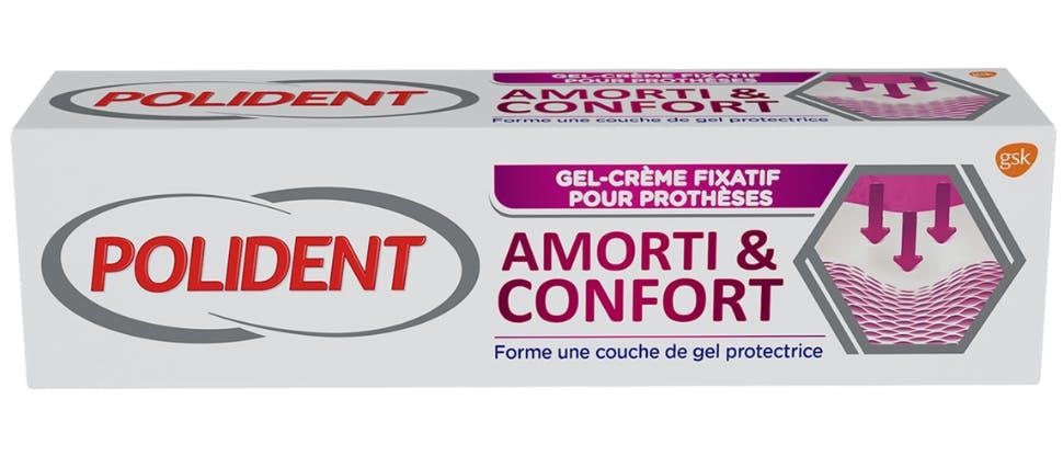 Polident Amorti & Confort Gel-crème fixatif