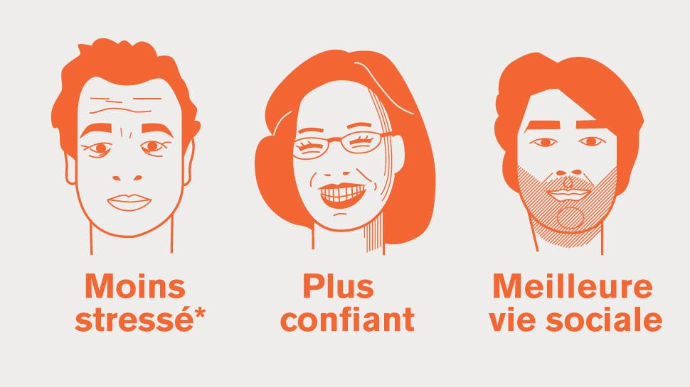 Illustrations de patients avec les résultats d'une enquête