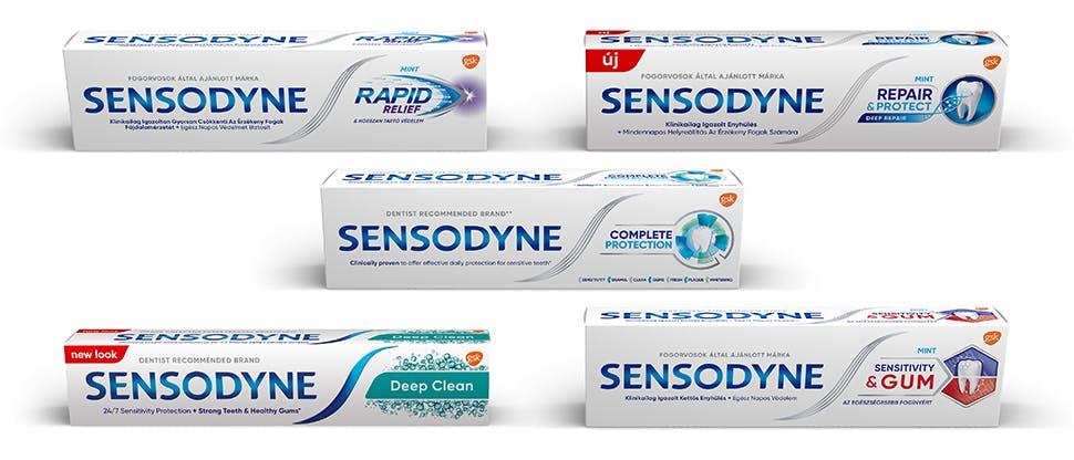 A Sensodyne termékcsalád