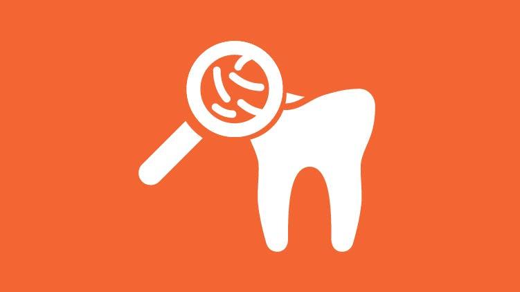 Icona batteri nel dente