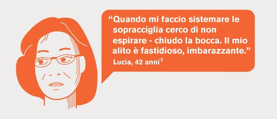 Lucia ha l'alitosi