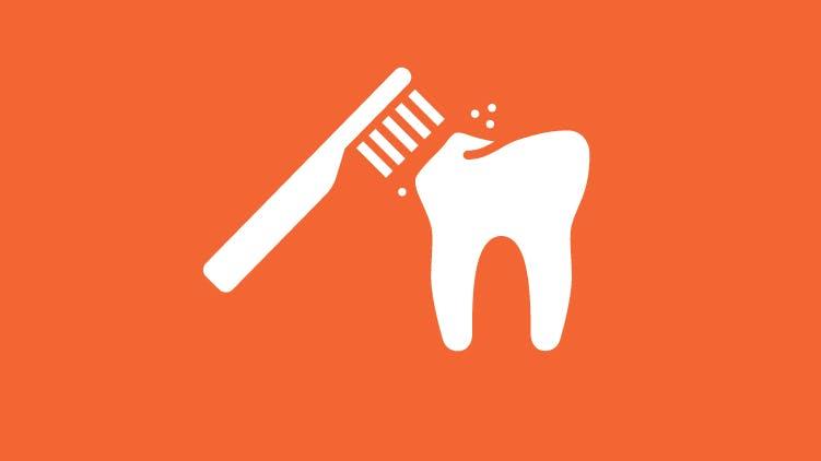 歯ブラシのアイコン