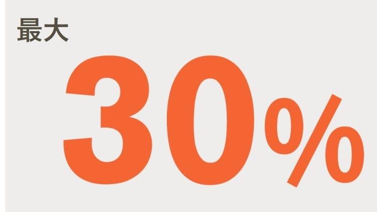 最大30%のアイコン