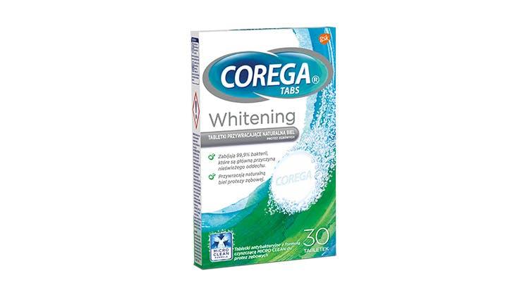 Zdjęcie opakowania Tabletki czyszczące Corega Whitening