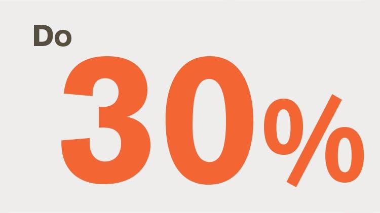 Ikona do 30%