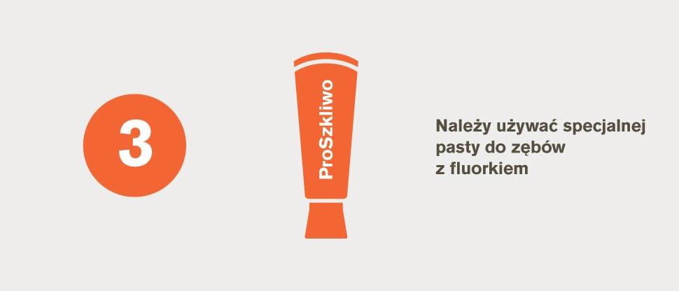 Specjalna pasta do zębów z fluorkiem