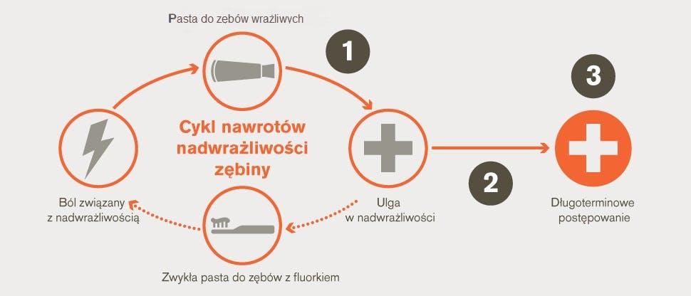 Cykl nawrotów nadwrażliwości zębiny i cele postępowania