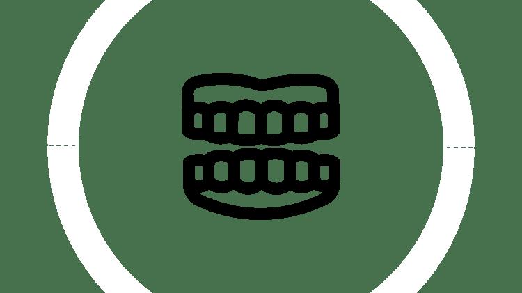 Ícone de prótese dentária provisória