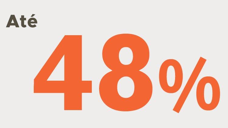 Até 48% infográfico