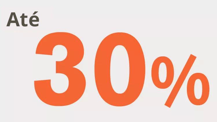 Ícone até 30%