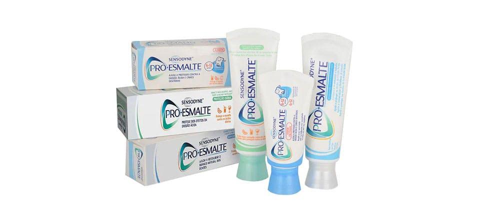 Gama de dentífricos Pro-Esmalte