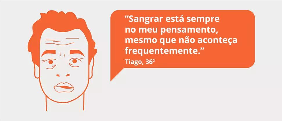 Tiago tem gengivas que sangram