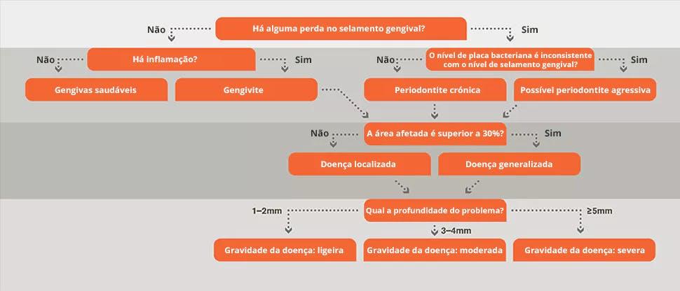 Gráfico do fluxo de diagnóstico