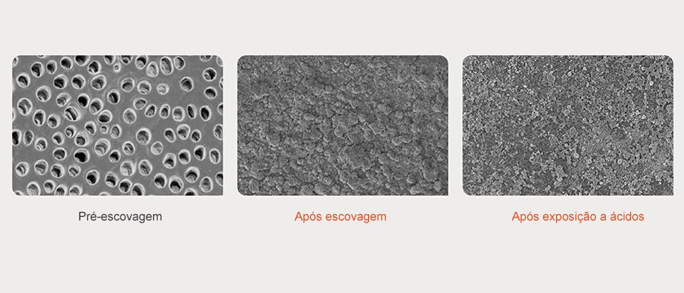 Imagens SEM da superfície da dentina