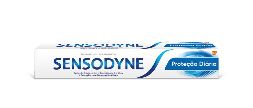 Embalagem da Sensodyne Proteção Diária