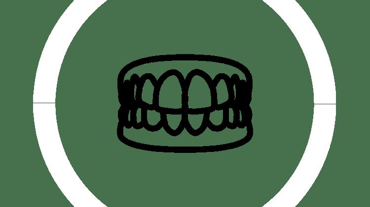 Pictogramă cu proteză dentară