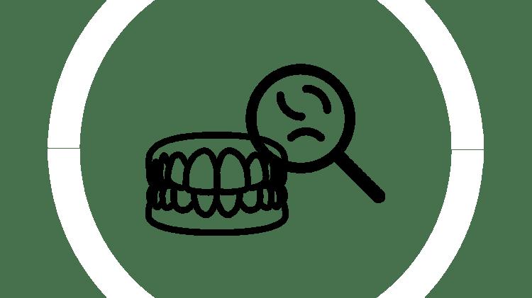 Pictogramă cu proteză dentară: cauze