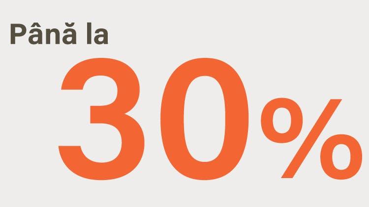 Pictogramă: până la 30%
