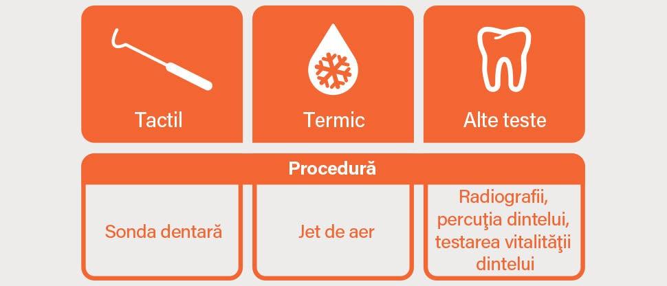 Teste de diagnostic: pictograme şi descrieri