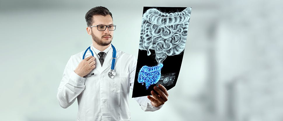 Doctor-and-holographic-bowel-scan
