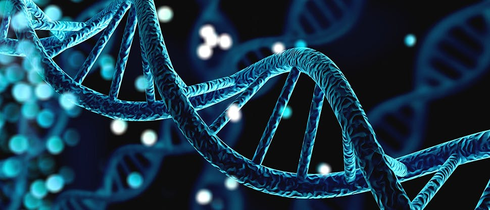 blue-helix-human-dna-structure