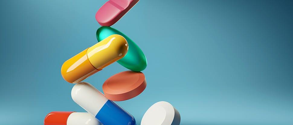 medical-balancing-act-a-group-of-medicine-pills