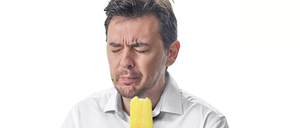 Боль при надкусывании фруктового льда