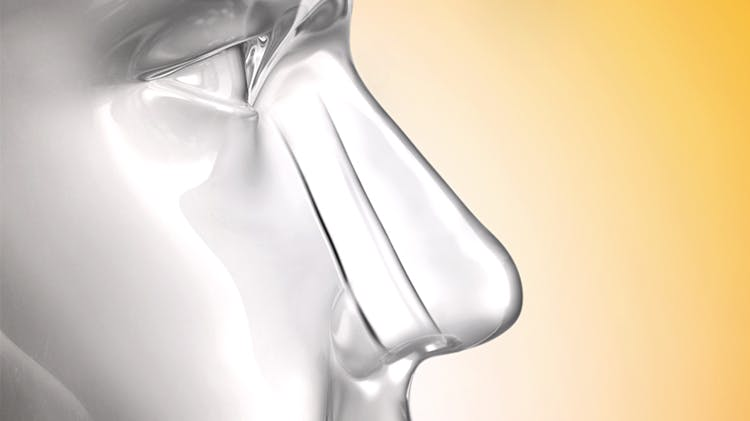 Airflow through the nose is restored