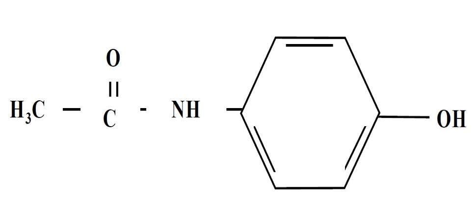 Молекула парацетамола